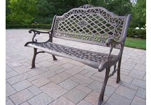 Mississippi High Back Bench Antique Bronze