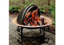 Copper Scroll Fire Pit