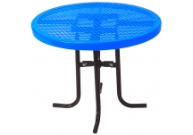 Commercial Park 36 Low Round Table- Portable, Diamond, Blue