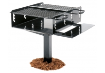Commercial Park Charcoal Grill- Black