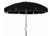 7.5' Aluminum Standard Umbrella Frame | Crank, 7.5 ft. Aluminum Patio Umbrella - Outdura Black Awning