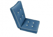 Deluxe Custom Chair Seat & Back Cushion Set with Buttons, Custom Chair Cushion