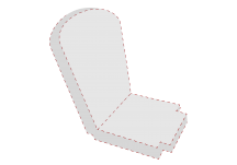 Unique Shape Rocking Chair Cushion