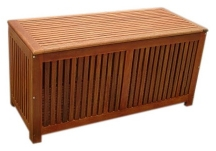 Outdoor Hardwood Storage Box Closed