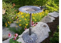 Cast Aluminum Sunflower Bird Bath