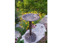 Cast Aluminum Hummingbird Bird Bath
