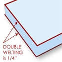 Edge Options Double Welting