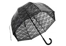 Premium Fiberglass Bubble Umbrella - Black Lace