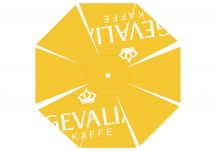 Gevalia kaffe logo umbrella proof