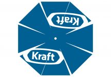 Kraft blue logo umbrella proof
