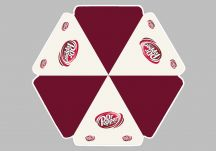 Dr. Pepper logo umbrella proof