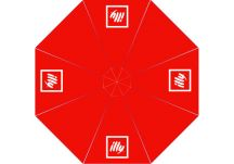 Illy logo umbrella proof