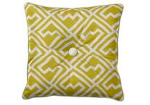 Custom Throw Pillow with Button