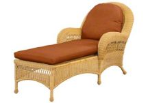 custom wicker chaise cushions