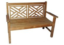 Teak Chippendale Bench 4'