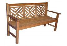 Teak Chippendale Bench 5'