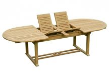 Teak Double-Leaf Extension Table