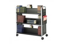Scoot Double Sided 6 Shelf Book Cart