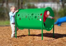 Commercial Playground Freestanding Crawl Tunnel- Green
