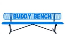 8 foot expanded metal buddy bench