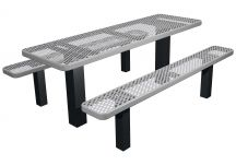 picnic table, commercial picnic table, permanent mount picnic table