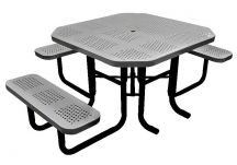 46 Perforated Octagonal Picnic Table