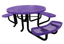 46' Round Expanded Metal Childs Picnic - ADA