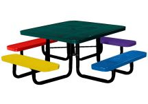 46 Square Perforated Childrens Table
