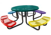 Round Expanded Child's Picnic Table