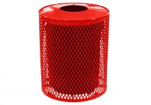 Expanded Metal Trash Can