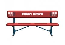 Block Standard Perforated Buddy Bench with Portable Mount