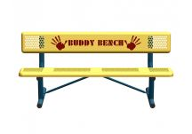Helping Hands Standard Perforated Buddy Bench with Portable Mount