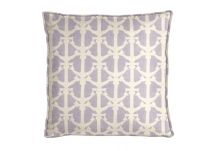 Al Fresco Drop Anchors Sea Lavender Pillow