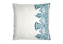 Robert Allen Atrium Bloom Indigo Pillow