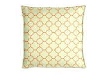 Highland Taylor Bubble Lattice Orange Pillow