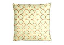 highland taylor bubble lattice orange pillow bubble lattice orange throw pillow