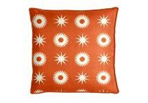 highland taylor compass orange pillow