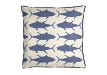 Al Fresco Tuna Royalty Blue Pillow
