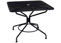 Iron Cafe Series Square Dining/Umbrella Table