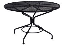 Iron Cafe Series Round Mesh Top Dining Table