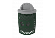 Expanded Metal Dog Park Trash Can with Dog Paw Cutout