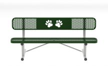 6' Standard Dog Park Bench with Back