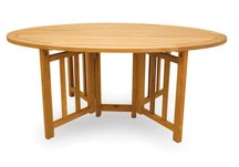 Teak Flip Table, Teak Oval Flip Table