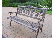 English Rose Bench Antique Bronze