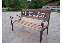 Animal Kiddy Bench Antique Bronze