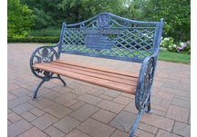 GOD Bless America Bench Antique Verdi