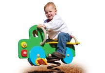 Commercial Playground Truck Spring Rider- Green/Yellow/Blue