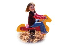Commercial Playground Horse Spring Rider- Yellow/Red