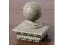 Sphere Sculpture Moss Post Cap