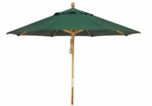 9 ft. Wood Market Umbrella